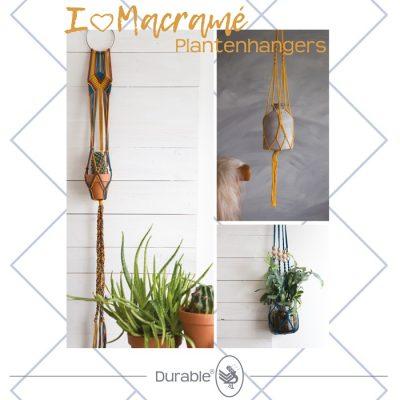 Macramé 3 Plantenhangers Pakket