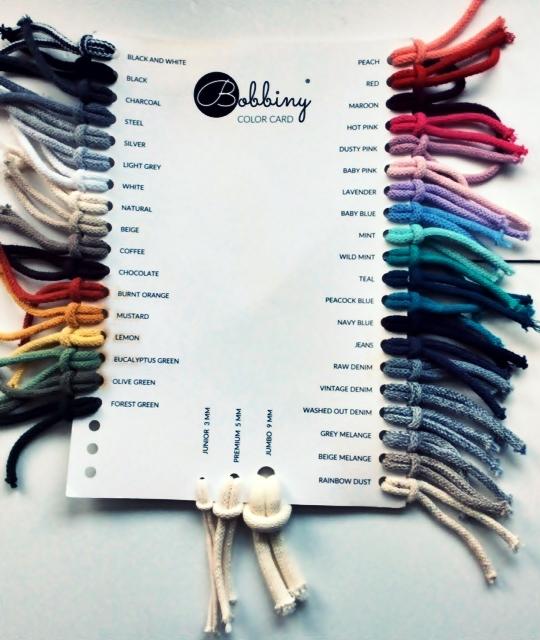 Bobbiny Kleurenkaart