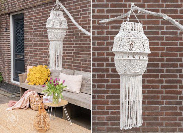 Macrame pakket voor lamprame lamp, ontwerp van coloursoflife.nl in samenwerking met Durable